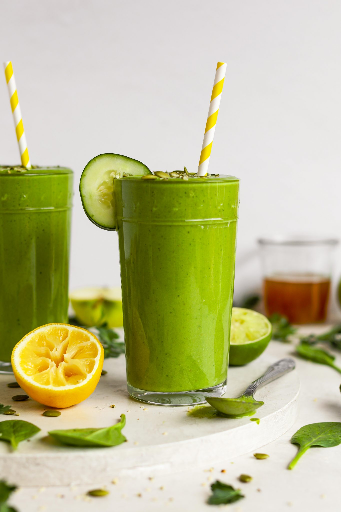 Savory Green Kombucha Smoothie by Flora & Vino