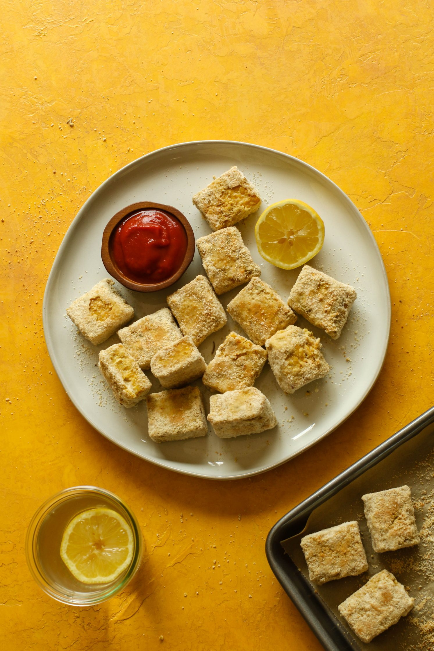 Baked Tempeh Tots by Flora & Vino