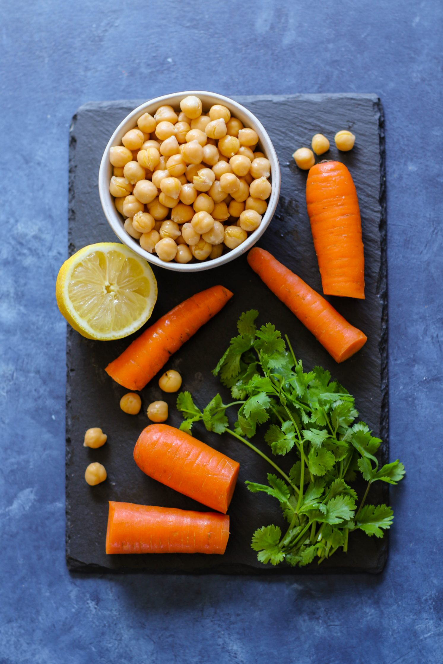 Raw Carrot Hummus ingredients