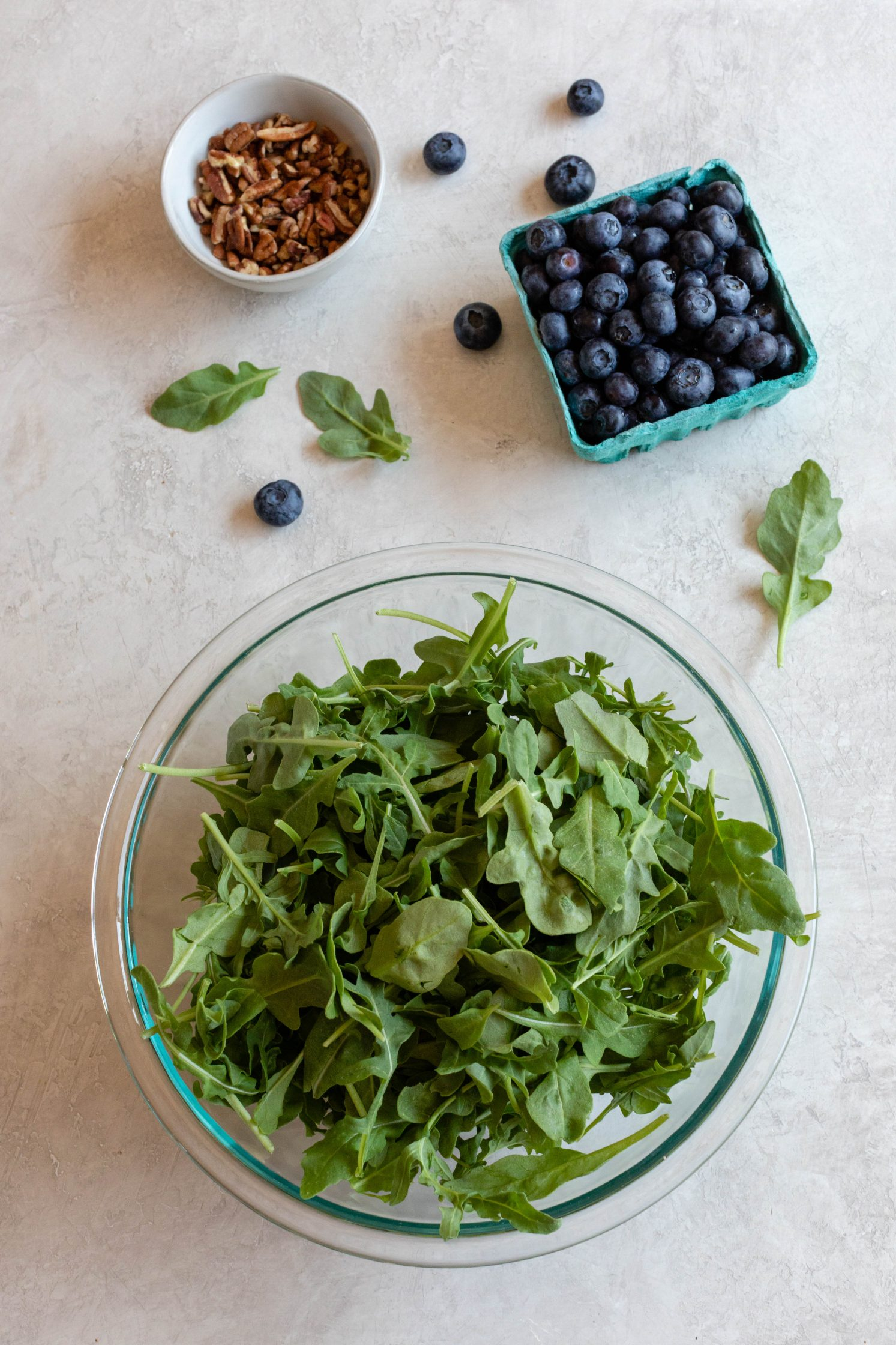 Blueberry Pecan Arugula Salad Ingredients