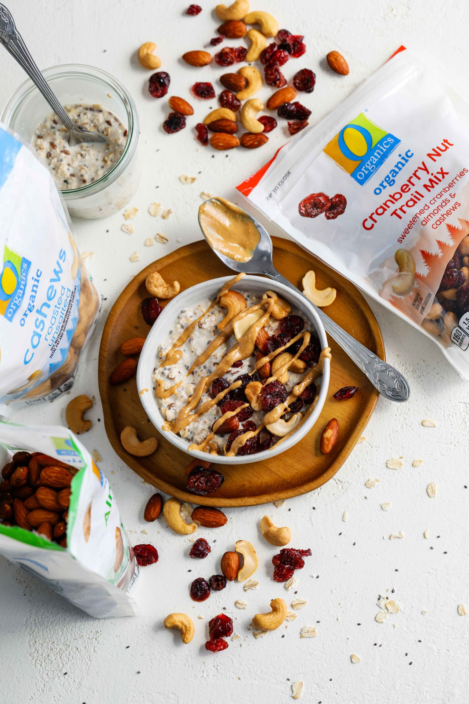 Trail Mix Overnight Oats by Flora & Vino