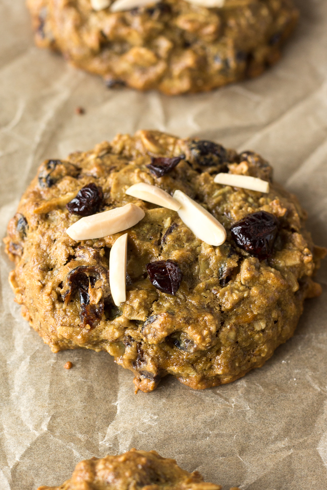Cranberry Almond Breakfast Cookies by Flora & Vino