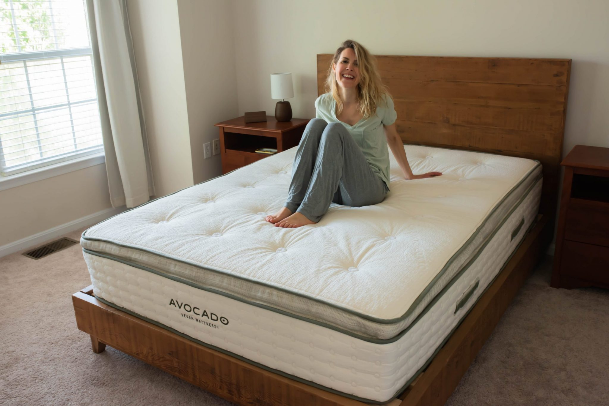 My Avocado Natural Wood Bed Frame by Flora & Vino