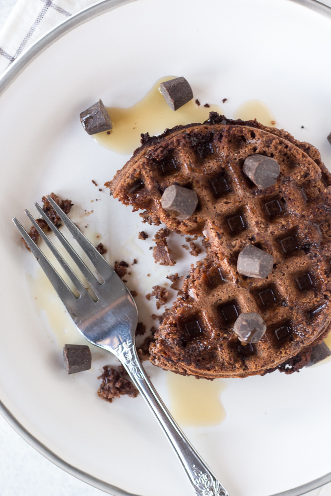 Paleo Chocolate Chip Waffles by Flora & Vino