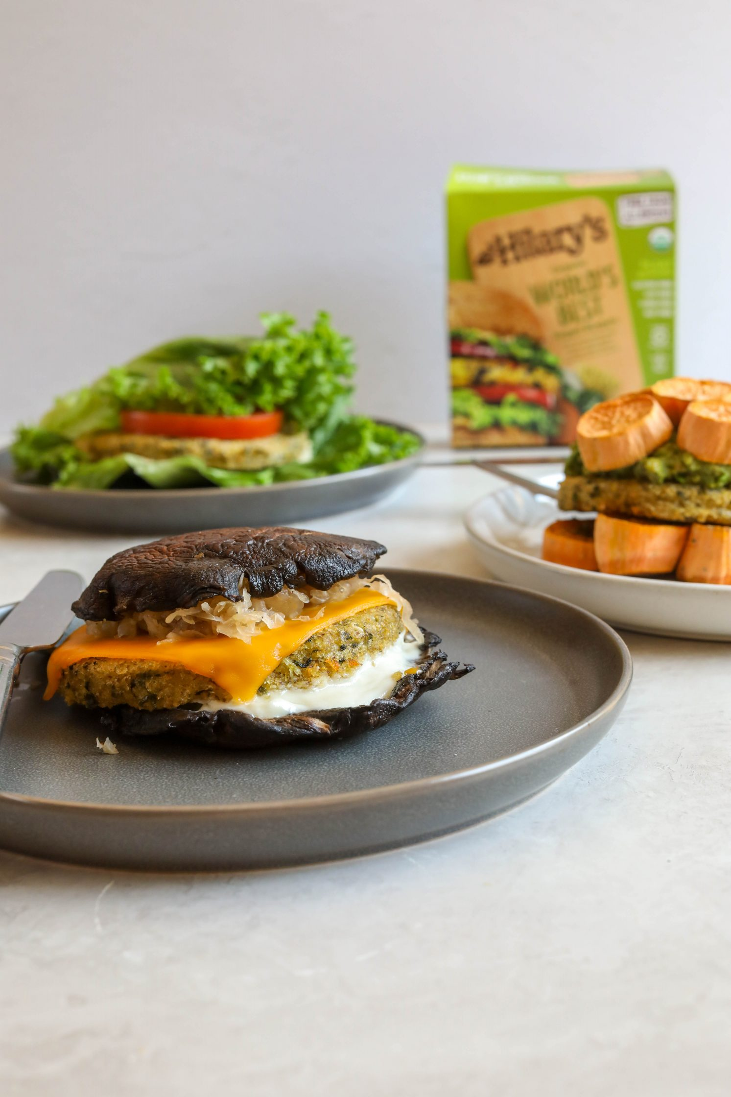 Hilary's Burgers with Grain-Free Buns (3 Ways!) by Flora & Vino