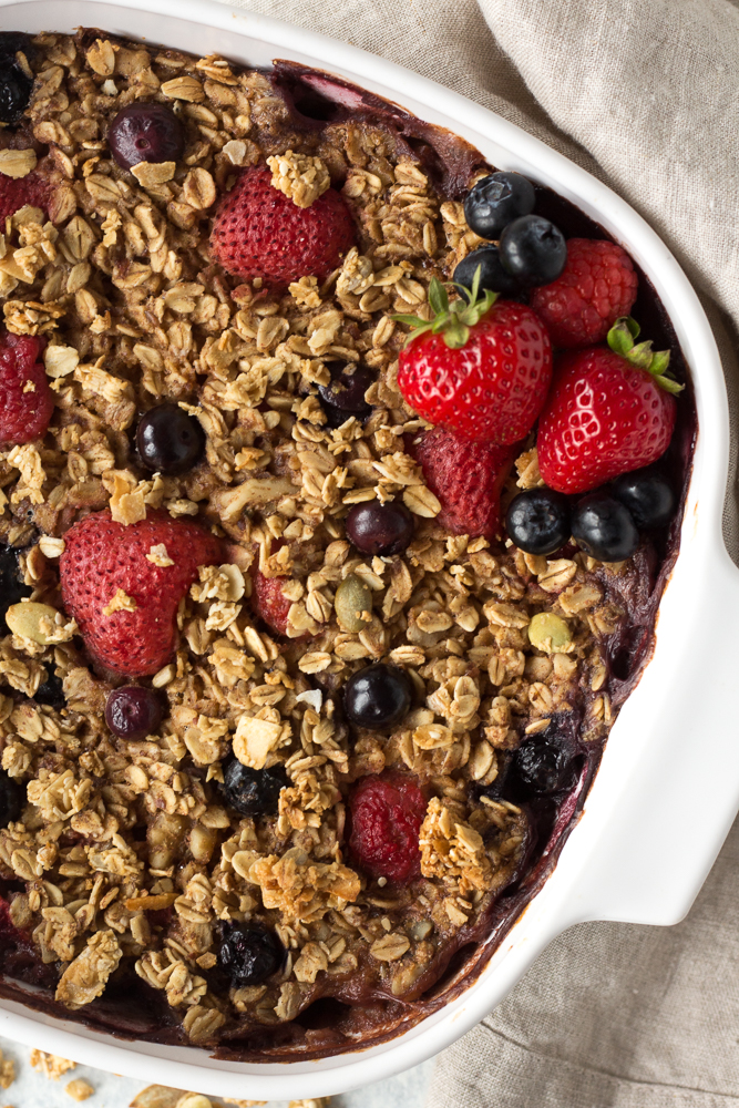Berry Baked Oatmeal by Flora & Vino