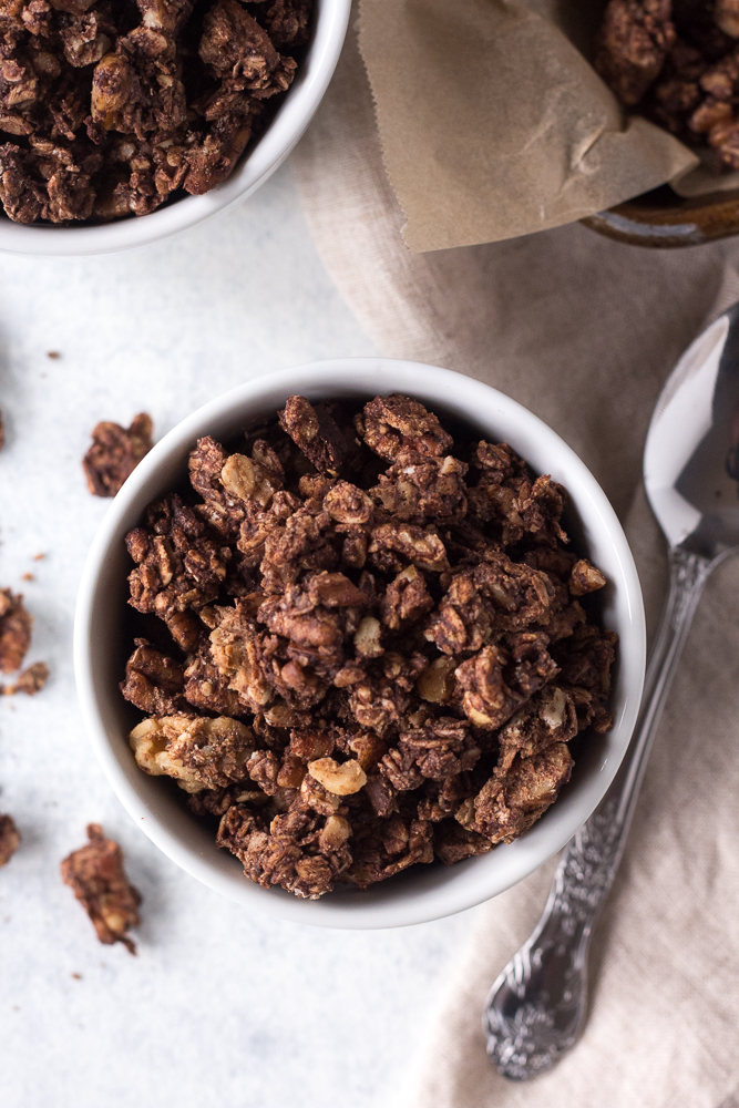 Chocolate Almond Butter Granola by Flora & Vino