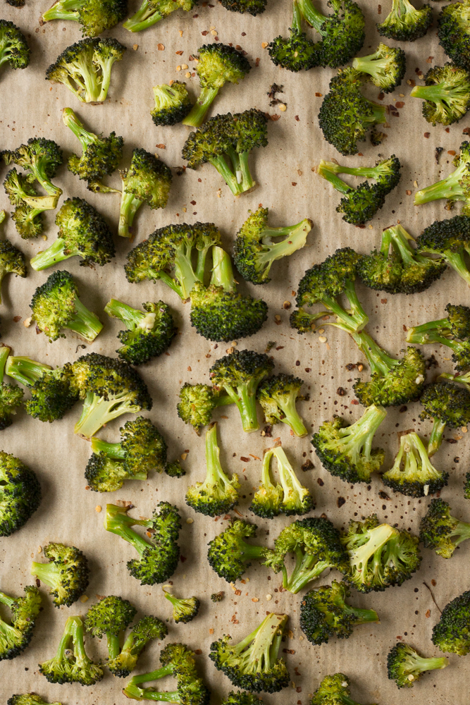Garlic & Lemon Roasted Broccoli by Flora & Vino