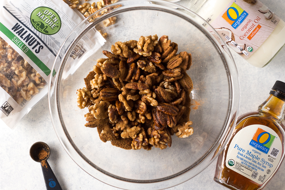 Easy Maple Spiced Nuts prep shot