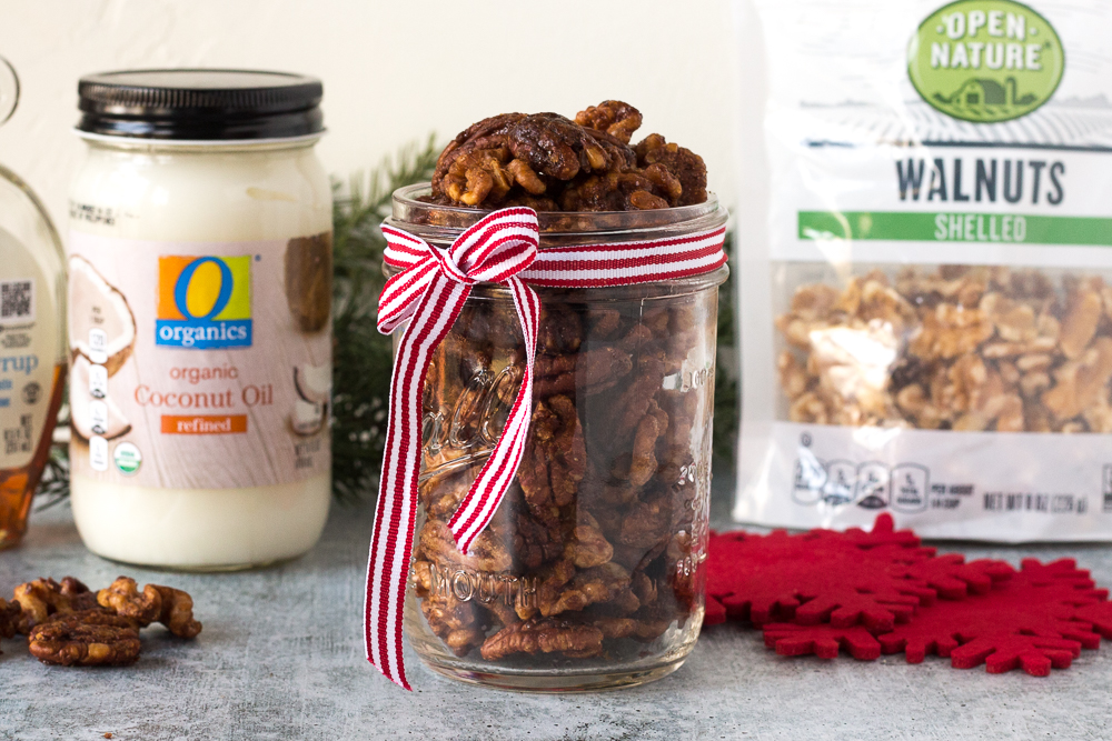 Easy Maple Spiced Nuts by Flora & Vino