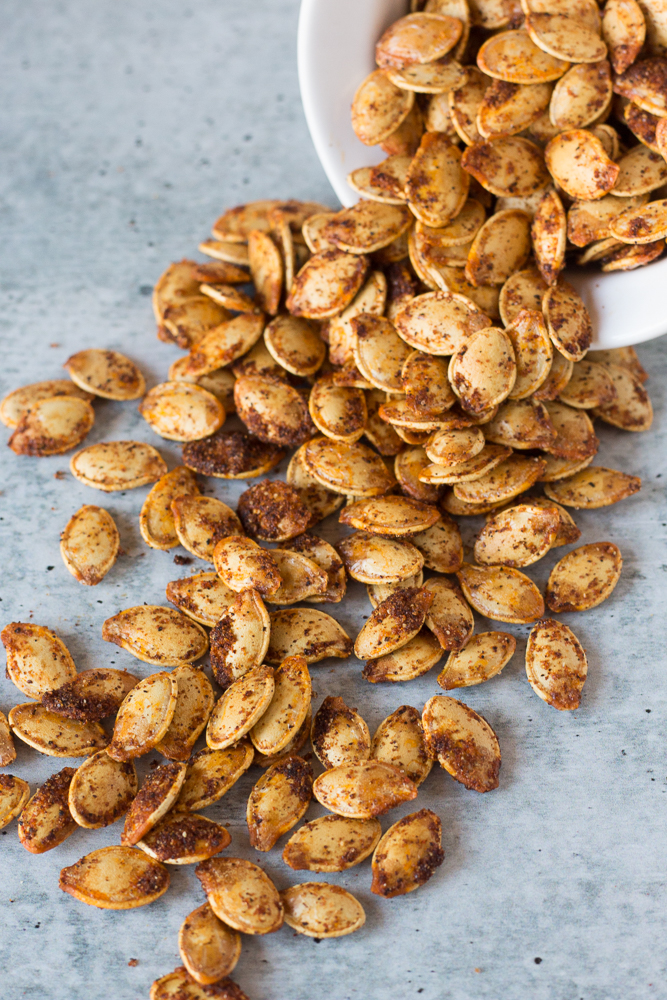 Everything Roasted Pumpkin Seeds by Flora & Vino