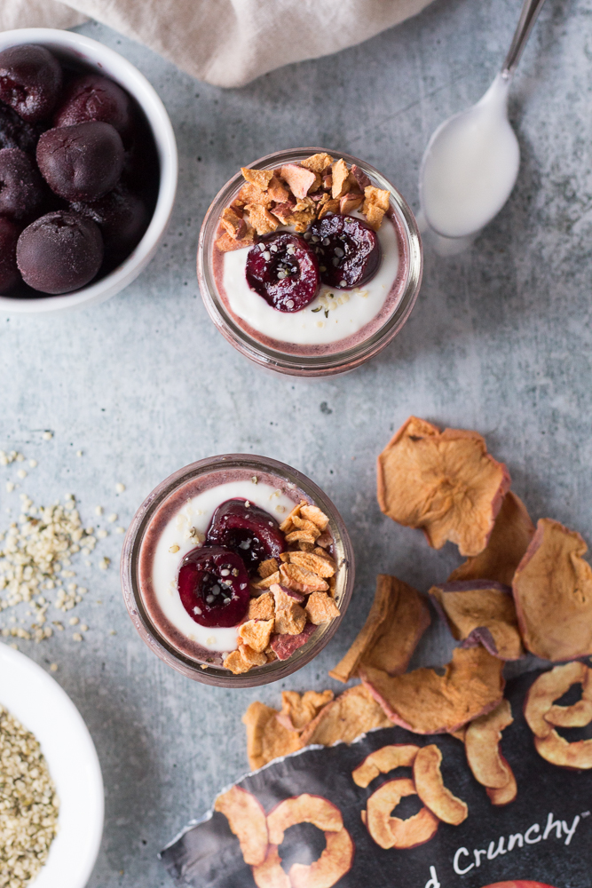 Cherry Chia Pudding by Flora & Vino