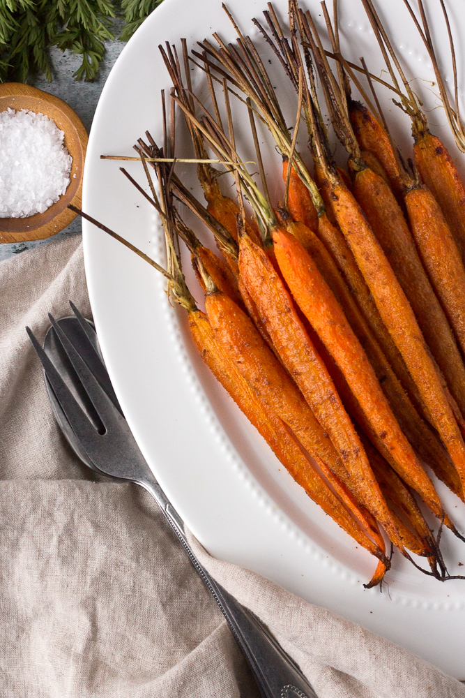 Cumin Roasted Carrots by Flora & Vino
