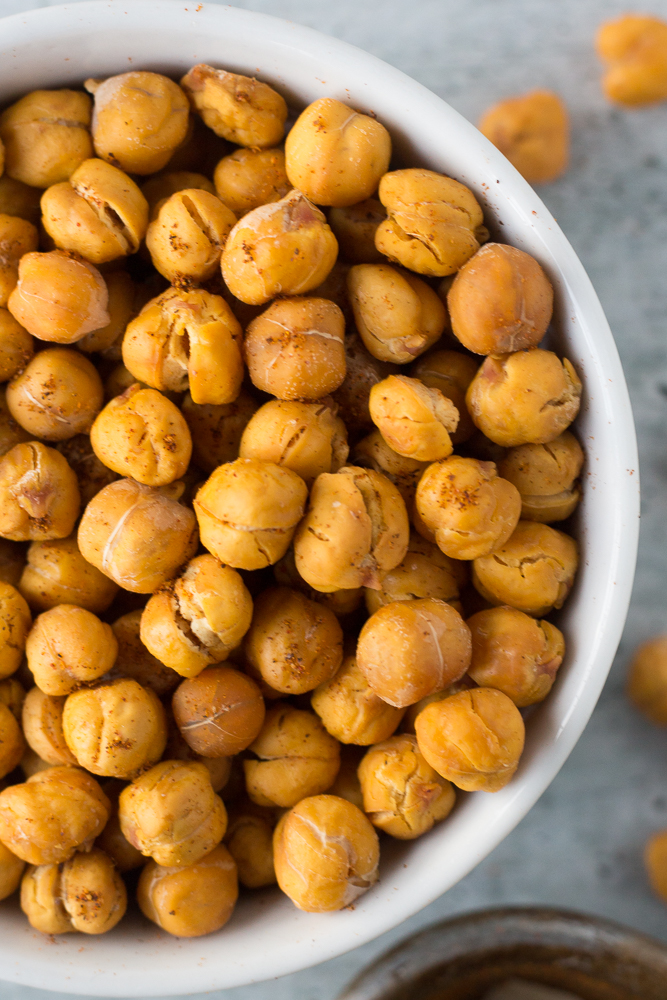 Oil-Free Roasted Spiced Chickpeas by Flora & Vino