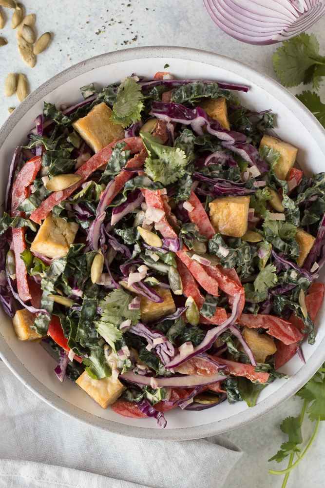 Thai Salad with SunButter Dressing by Flora & Vino