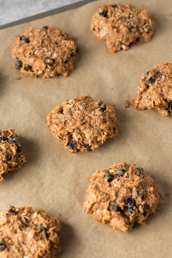 Blueberry Almond Protein Cookies by Flora & Vino
