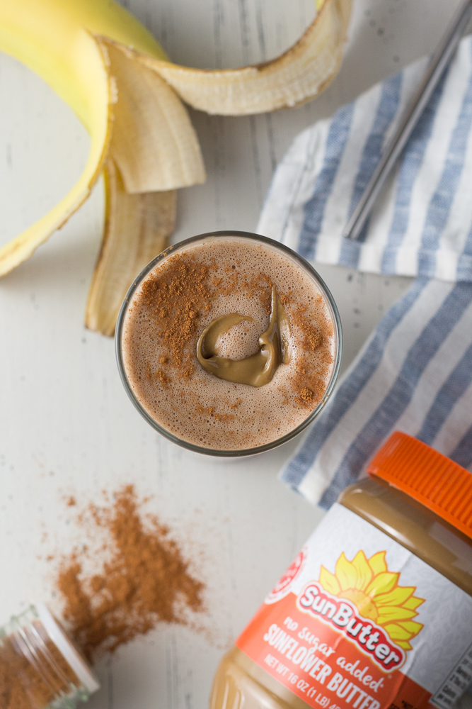 SunButter Cinnamon Smoothie by Flora & Vino