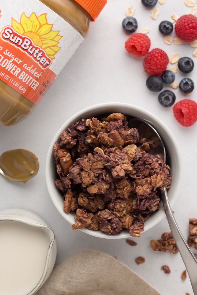Triple Berry Granola (Oil-Free!) by Flora & Vino