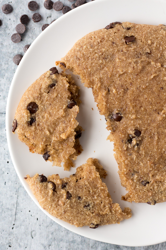Almond Flour Chocolate Chip Cookie for One by Flora & Vino