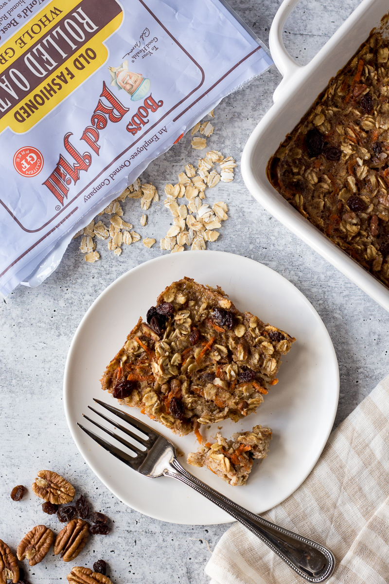 Carrot Cake Baked Oatmeal by Flora & Vino